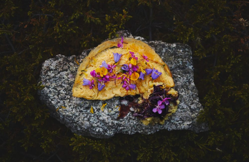 Omelet & Wild Flowers, Tasermiut Camp-min