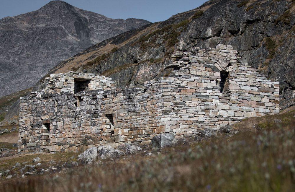The Hvalsey church ruin near Qaqortoq in South Greenland-min