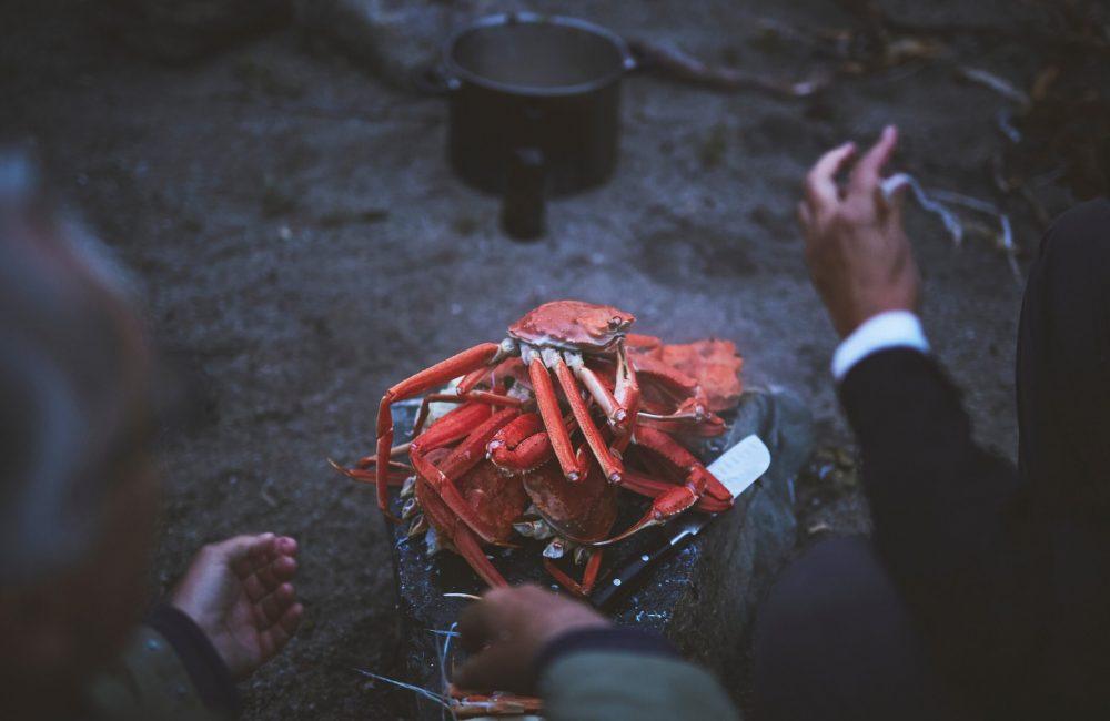 crab served at Tasermiut Camp-min
